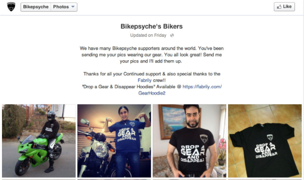 The Bikepsyche Facebook group created an album to share their pictures with fellow page fans