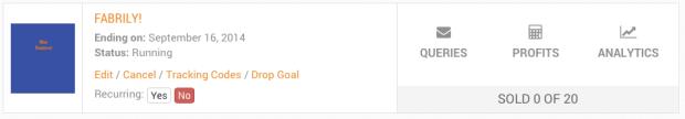 goal drop