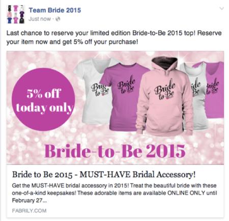 bride fb ad
